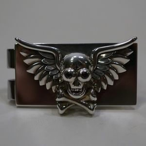Other - Sterling Silver (.925) Skull Crossbones Money Clip